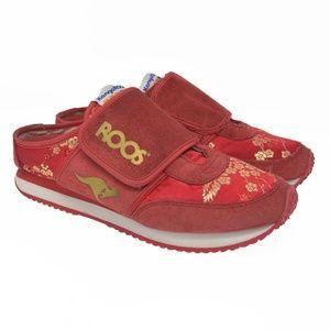 KangaROOS Sz 7.5 Red Slip On Suede Leather Comfort